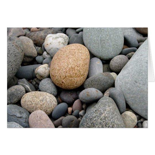 Ein Strand der Felsen-Karte Mitteilungskarte