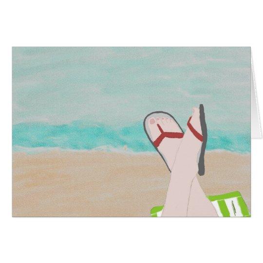 Ein Tag an der Strand-Anmerkungs-Karte Karte