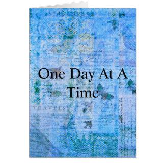 Ein Tag auf einmal Grußkarte