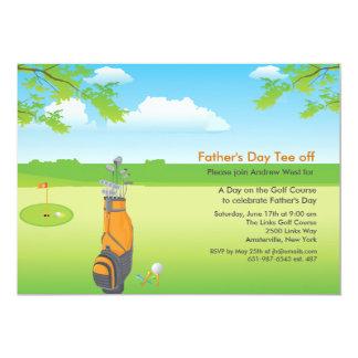 Ein Tag der Vatertags-der Einladung Golf-