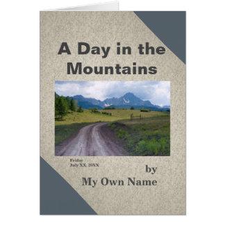 Ein Tag in der Bergc$mini-abhandlung Schablone Karte