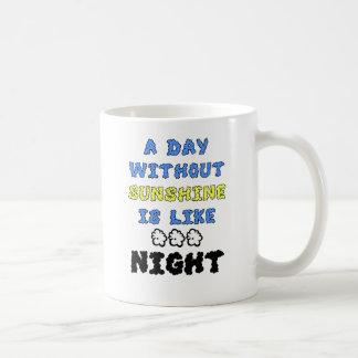Ein Tag ohne Sonnenschein ist wie… Nacht Kaffeetasse