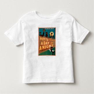 """""""Ein Tag und Nacht"""" Katzen und -hunde musikalisch Kleinkinder T-shirt"""