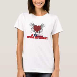 Ein Texan stahl mein Herz T-Shirt