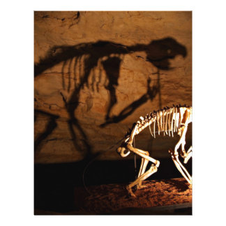 Ein Tierskelett im Museum Flyer