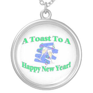 Ein Toast des neuen Jahres Versilberte Kette