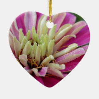Ein Tropfen des Morgentaus Keramik Herz-Ornament