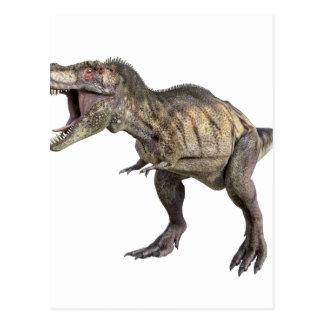 Ein Tyrannosaurus Rex, der recht stehend und Postkarte