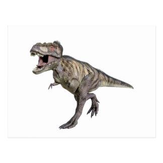 Ein Tyrannosaurus Rex, der rechts läuft Postkarte