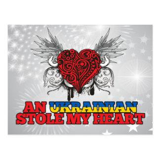 Ein Ukrainer stahl mein Herz Postkarte
