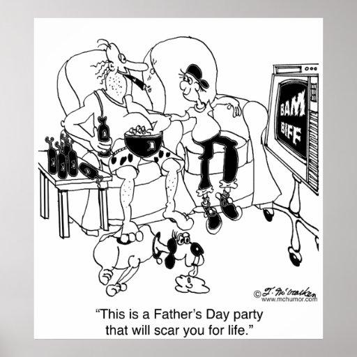 Ein Vatertag, der Sie schrammt Posterdruck