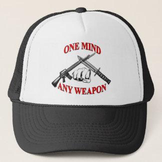 Ein Verstand irgendeine Waffe MCMAP Truckerkappe