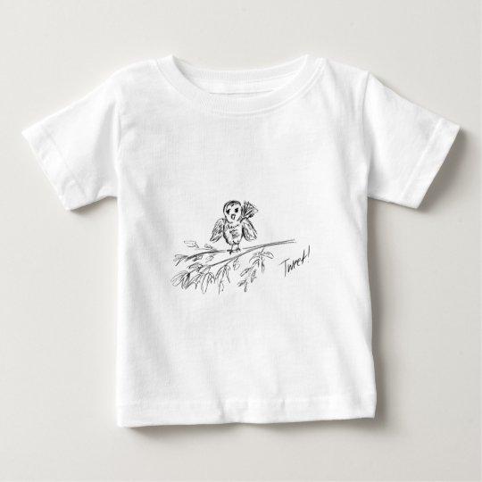 Ein Vogel, die Vorlage tweeten Baby T-shirt