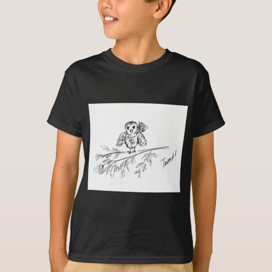 Ein Vogel, die Vorlage tweeten T-Shirt