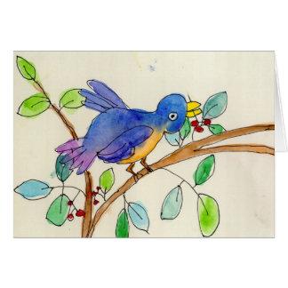 Ein Vogel durch Elsa Fleisher, Alter 8 Mitteilungskarte