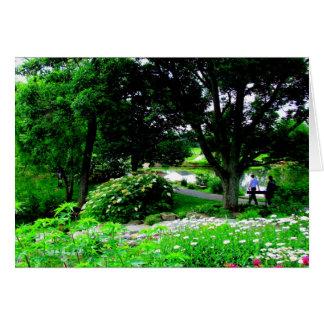 Ein Weg an Cox-Arboretum - Dayton, Ohio Karte