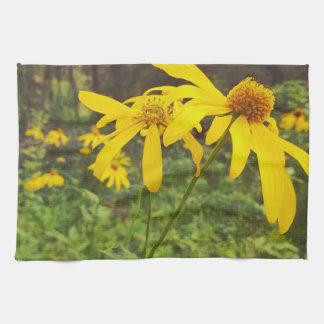 Ein Weg im Holz-Wildblume-Küchen-Tuch Handtücher