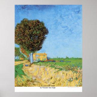 Ein Weg nahe Arles durch Vincent van Gogh Poster