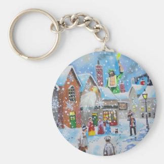 ein Weihnachten Carol Scrooge und die drei Geister Schlüsselanhänger