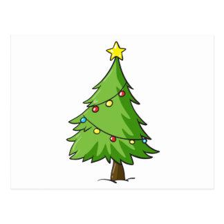 ein Weihnachtsbaum Postkarte