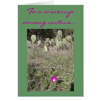 Ein winecup unter Kaktus Karte