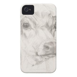 Ein Zeichnen einer jungen Kuh iPhone 4 Hülle
