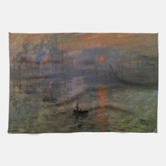 Eindrucks-Sonnenaufgang durch Claude Monet, Geschirrtuch