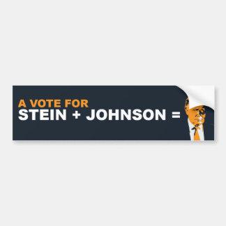 Eine Abstimmung für Stein oder Johnson ist eine Autoaufkleber