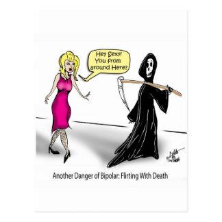 Eine andere Gefahr von zweipoligem: Flirt mit Tod Postkarte