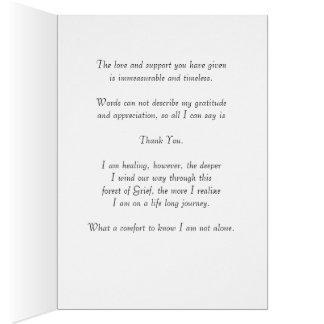 Eine Anmerkung der Anerkennung und der Dankbarkeit Karte