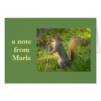 Eine Anmerkung von Marla! Mitteilungskarte