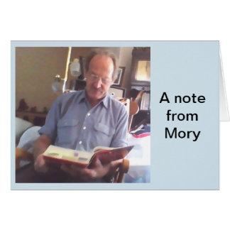 Eine Anmerkung von Mory. Mitteilungskarte