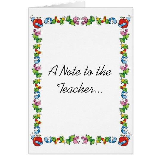 Eine Anmerkung zum Lehrer… Grußkarte