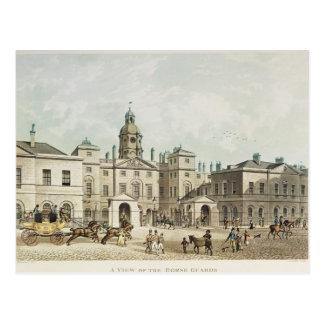 Eine Ansicht des Pferdeschutzes von Whitehall Postkarte