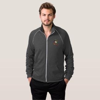 Eine Bahn-Jacke der Mädchen-Männer dunkle Zip Jacke