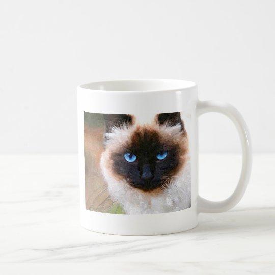 Eine Birman Katze Kaffeetasse