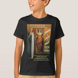 Eine Dame In Half ~ sägen Magier-Vintage magische T-Shirt
