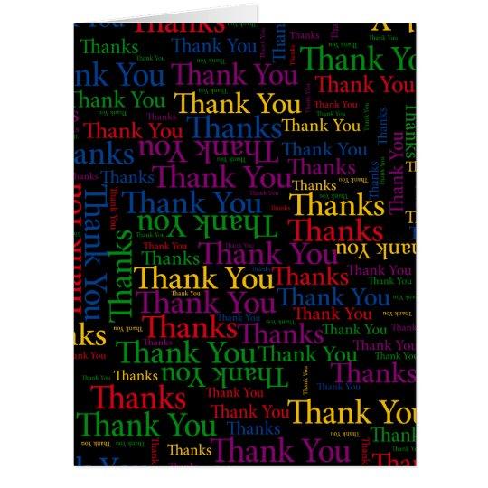 Eine dankbare Art zum zu sagen danken Ihnen soviel Riesige Grußkarte