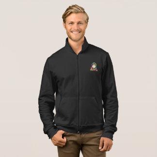 Eine die Fleece-Ziprüttler-Jacke der Jacke
