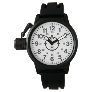 Eine Die Kronen-Schutz-Schwarz-Gummibügel-Uhr der Uhr