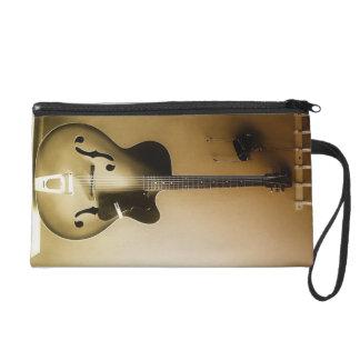 Eine einzige Gitarre Wristlet Handtasche