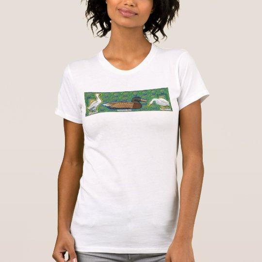 eine Ente zwischen zwei gooses T - Shirt