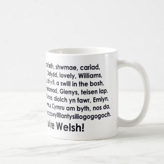 Eine Erinnerung des Zuhause. Wales Kaffeetasse