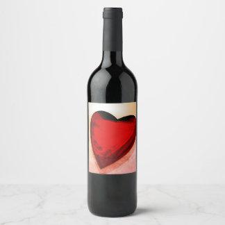 Eine Flasche Wein Weinetikett