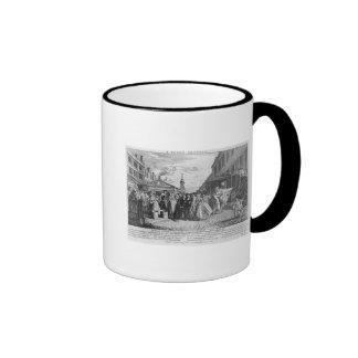 Eine Flotten-Hochzeit, 1747 Kaffee Tassen