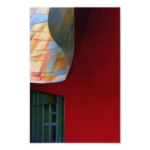Eine Form des Rotes Kunstphoto