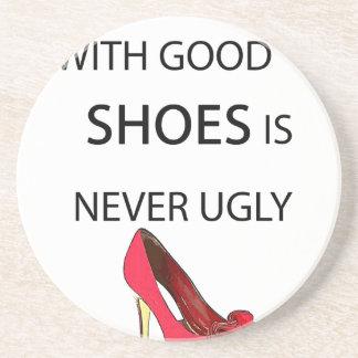 eine Frau mit guten Schuhen Untersetzer