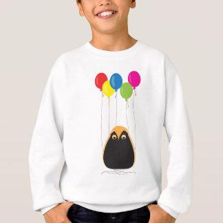 Eine glückliche Eule mit glücklichen Ballonen Sweatshirt