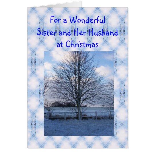Eine glückliches Weihnachtsschwester-und Grußkarte