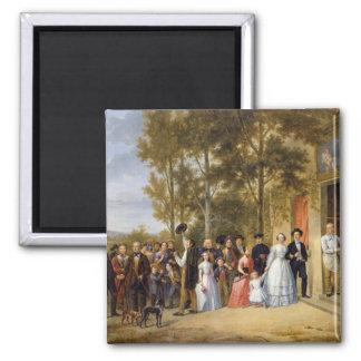 Eine Hochzeit beim Coeur Volant, Louveciennes Quadratischer Magnet